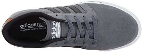 adidas NEO Mens CF Super Skate Sneaker, Grey Four/Black/Timber, 9 M US