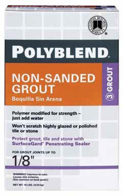 Polyblend-Nonsand PBG1010ANTQWH 10 Lb Antique White Polyblend Non-Sanded Tile Grout