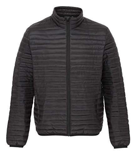 Quilted para Tribe ts018 negro hombre 2786 Jacket Fineline ftgng