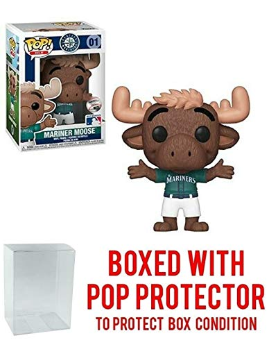 - POP! Sports MLB Mascots Seattle Mariners, Mariner Moose Action Figure (Bundled with Pop Box Protector to Protect Display Box)