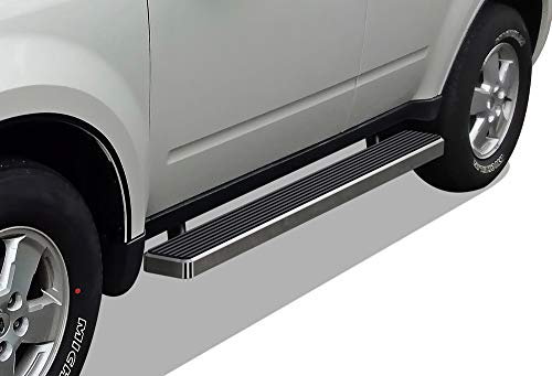 APS iBoard (Silver 5 inches) Running Boards | Nerf Bars | Side Steps | Step Rails for 2008-2012 Ford Escape & 2008-2011 Mazda Tribute & 2008-2010 Mercury Mariner