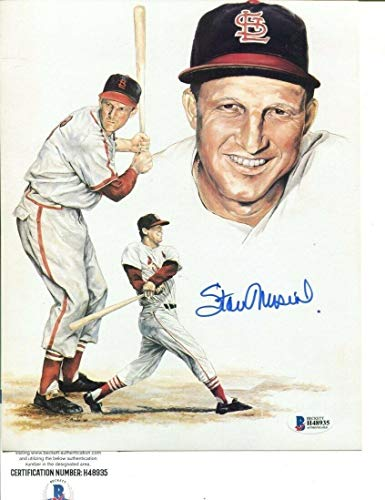 - Stan Musial Signed Photo 8x10 Autographed Cardinals Beckett BAS H48935 - Beckett Authentication - Autographed MLB Photos
