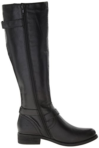 Steve Madden Synicle Piel Botin Rodilla Black Leather