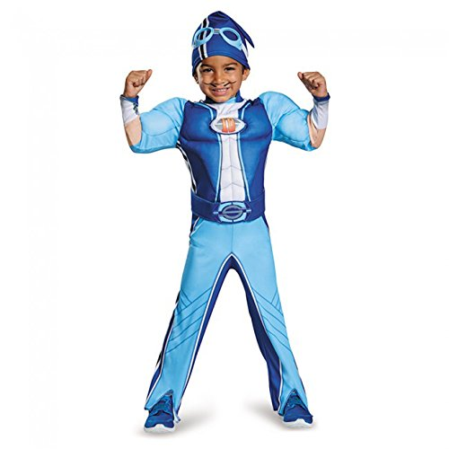 Disguise Sportacus Toddler Muscle Lazy Town Cartoon Network Costume, One Color, Large/4-6