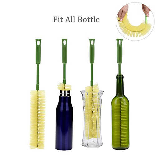 Long Bottle Brush, Cleaning for Wine Beer Vase Olive Narrow Neck Brewing Bottles, 16 inch (Vases Glass Where Buy To)