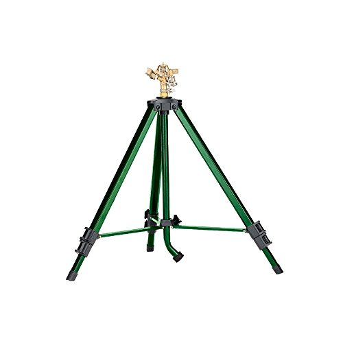 Tripod Sprinkler - Orbit 58308N 58308 Tripod Base with Brass Impact, Green (Renewed)