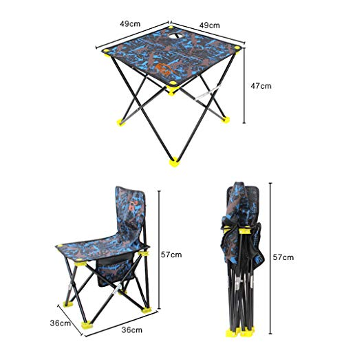 JINGQI Utomhus fritid bärbar fällbart bord och stol set picknick fritid grillbord kamouflage bord och stol set