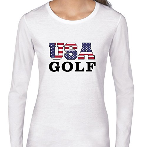 USA Golf - Olympic Games - Rio - Flag Women's Long Sleeve - Usa Olympics Golf Team Apparel