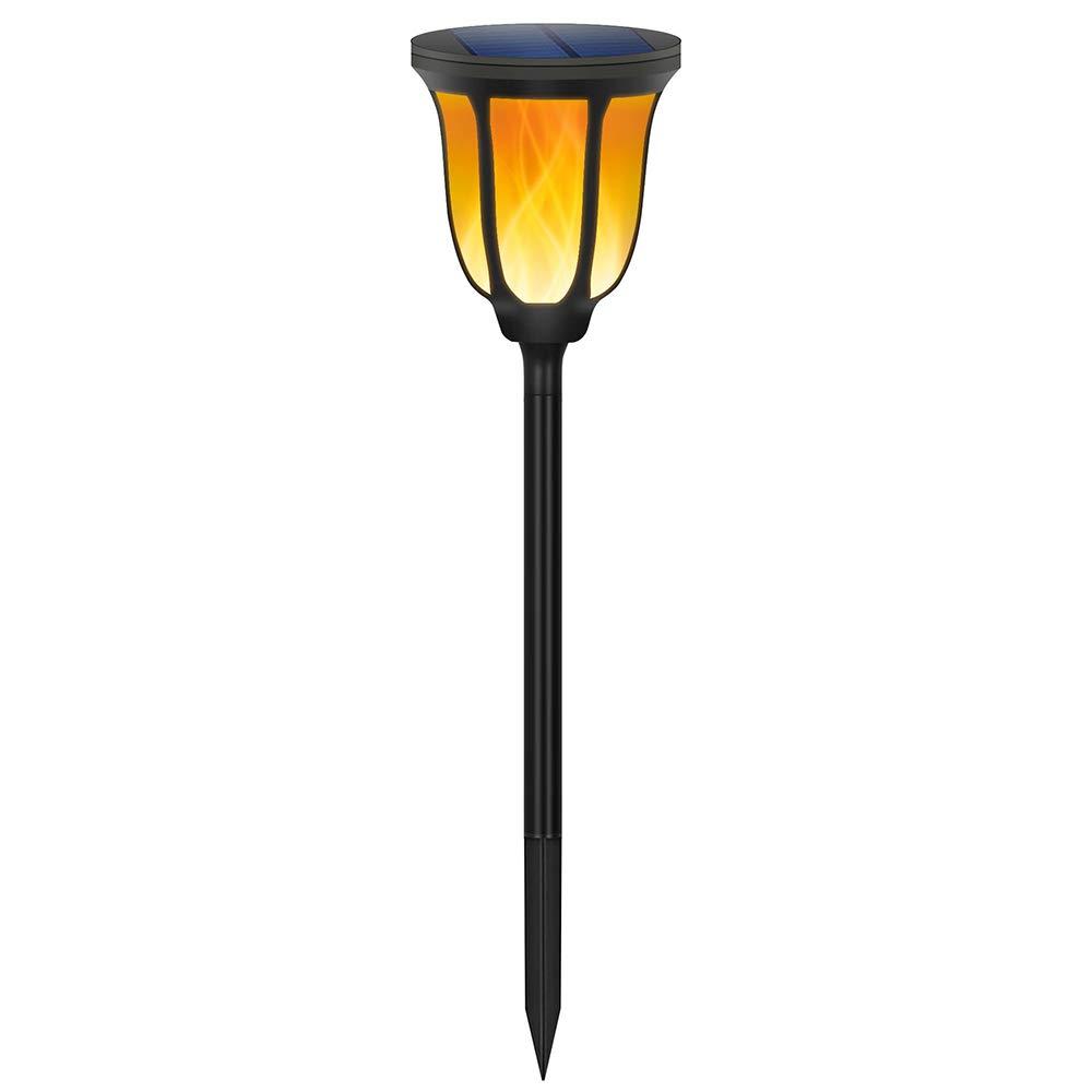 Solar Light 96led Flame Torch Lampada da parete a induzione esterna Cortile cortile giardino per inserire luci decorative paesaggio Spike Light Lampada (Dimensioni  Set spina di terra 96LED)