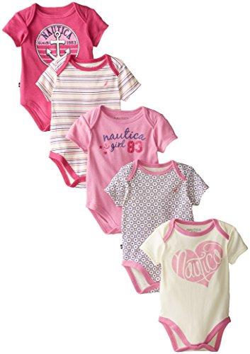 nautica-baby-girls-newborn-5-pack-hearts-bodysuits-assorted-0-3-months