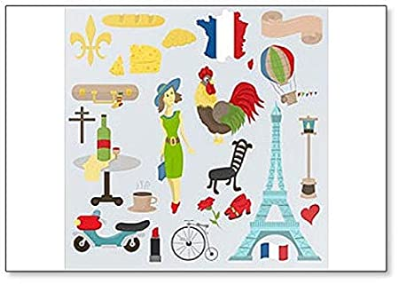 Imán para nevera con diseño de símbolos e iconos de Europa y ...