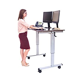 "LUXOR Standup-CF48-DW Stand Up Desk, Crank Adjustable, 48"""