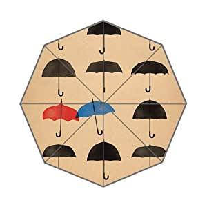 G-smart Blue Umbrella Cute Minimal Art Disney Custom Rain Patio Umbrellas DIY Travel Umbrella Uv Protection
