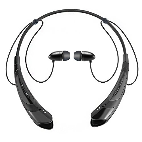 Wireless Stereo Bluetooth Sports Neckband Earphone (Black) - 7