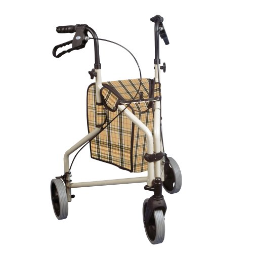 drive-medical-winnie-lite-supreme-aluminum-three-wheel-rollator-tan-plaid