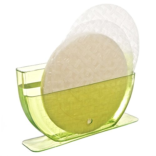 (New Star International NS1038GR Rice Paper/Egg Roll Water Bowl, 7-3/4 Inches (W) x 5-1/4 (H), 24-Ounces, Green)