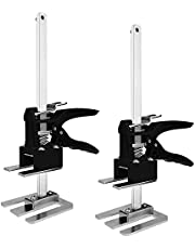 2 Packs Labor Saving Arm Hand Tool Jack Set Door Panel Lifting Cabinet Jack, Drywall Lift Board Lifter, Wall Tile Height Adjuster Up to 263 LB/PCS, Lifting Range 0.15-7.7 Inch