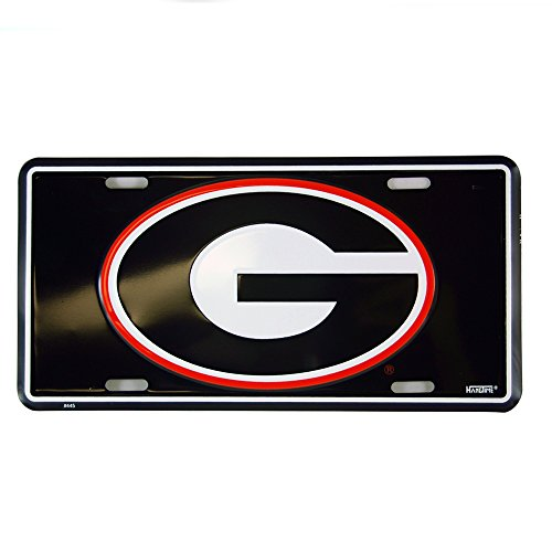 University of Georgia Logo Glossy Black License Plate (Athens Ga Us)