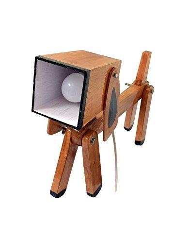 Buy woodrobin dog lamp table lamp wooden showpeice wood lamp online woodrobin dog lamp table lamp wooden showpeice wood lamp mozeypictures Images