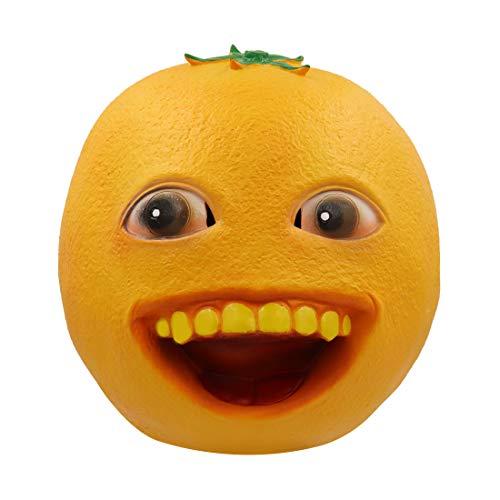 - Bulex Annoying Orange Toy Cosplay Mask Latex Helmet for Adult (Annoying Orange)