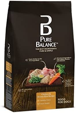 Amazon Com Pure Balance Dog Food Chicken Brown Rice Recipe 30 Lb Pet Supplies