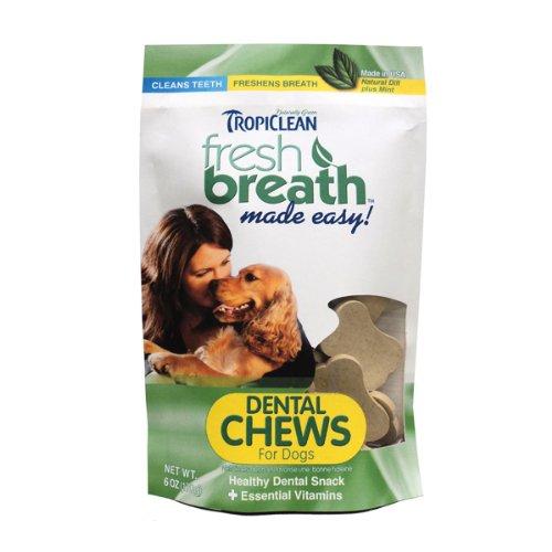 Tropiclean Fresh Breath Pet Chews, 6 Ounce Bag, My Pet Supplies
