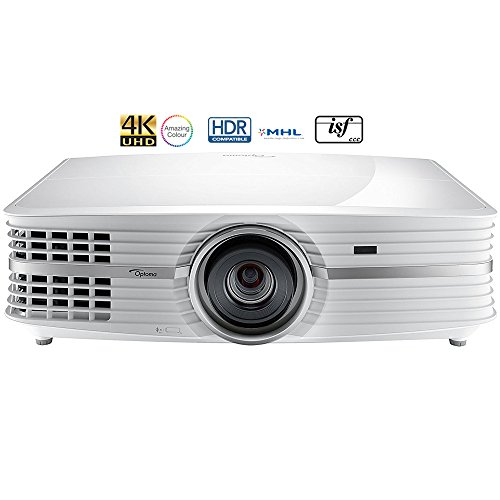 Optoma UHD60 4K Ultra High Definition Home Theater Video Projector- (Renewed)