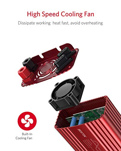 41VTOS7ydkL Wechselrichter 500W Reiner Sinus/Spannungswandler 12v 230v mit 4.2A Dual Smart USB-Anschlüsse Adapter Netzteil Kfz…