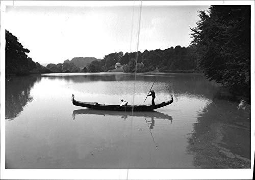 Vintage photo of Gondola:Stourhead ()