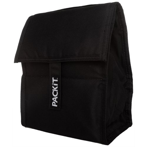PackIt Freezable Lunch Bag, Black (Freezer Safe Bag compare prices)