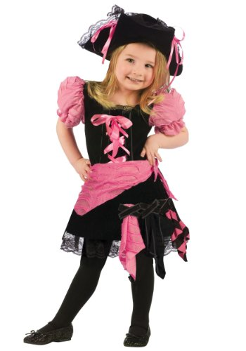 So Sydney Girls Toddler Deluxe Punk Pink Pirate Halloween Costume Dress & accessories (XS (2T/3T), Punk Pink (Pink Punk Pirate)