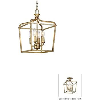 minka lavery minka four light pendant from laurel estate collection in gold