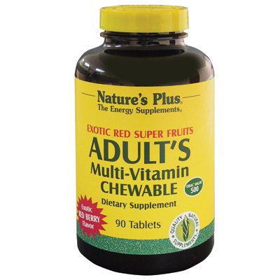 Adult's Multi-Vitamin Exotic Red Fruits Nature's Plus 90 Chewable (Adult Multi Vitamin)
