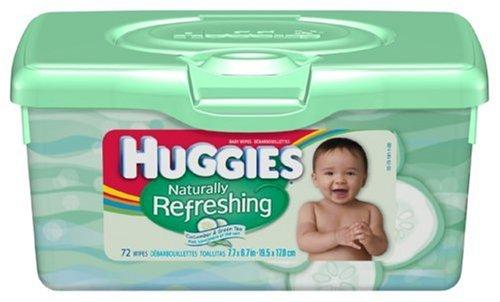Huggies Naturally Refreshing Wipes (Huggies Naturally Refreshing Cucumber & Green Tea Baby Wipes, 72-Count Tub (Pack of 8))