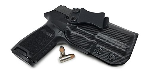 Concealment Express IWB KYDEX Holster: fits Sig Sauer P320 Compact - Custom Molded Fit - US Made - Inside Waistband Concealed Carry - Adj. Cant & Retention (Carbon Black, Right)