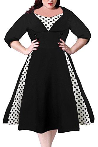 50s swing dress plus size - 1