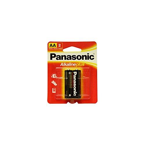 Panasonic ALKALINE PLUS AA Battery 2pk Retail Card AM-3PA/2B LR6 USA SHIP (Panasonic Aa Lr6)