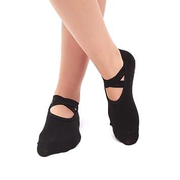 Liuxc Calcetines de yoga Calcetines de Baile de Ballet, señoras Redondas Calcetines de Yoga de
