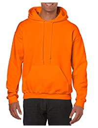 GILDAN Mens Heavy Blend Fleece Hooded Sweatshirt G18500 Shirt