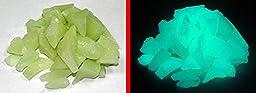 Aqua Glow-in-the-Dark Fish Tank Rubble 8oz ~ Glow Pebbles ~ Aquarium Gravel