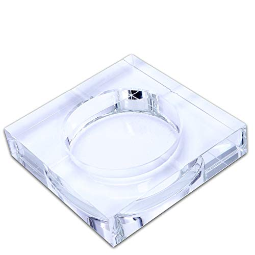 TOOGOO Modern Home/Office Art Deco Portable Square Crystal Ashtray Transparent.Model 10 cm