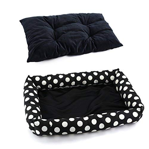 Luminous Pet Bed & Lounge with Removable Cover, Self Warming Dog Bed Cushion Pad, Soft Cozy Dog Nest Mat & Kennel