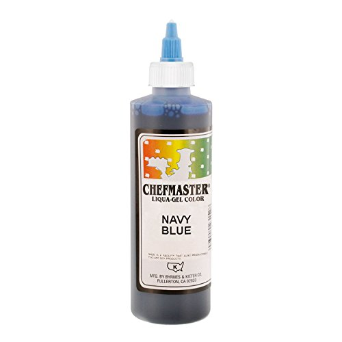 Chefmaster by US Cake Supply 10.5-Ounce Liqua-Gel Cake Food Coloring Navy Blue