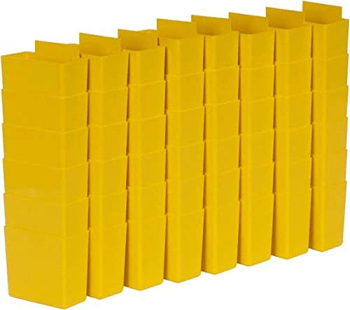Quantum Storage- 3.3'' Long x 1.8'' Wide x 3'' High Yellow Bin Cup for Use with Quantum Storage Systems - Shelf Bin - 48/Case (4 Cases) by Quantum Storage Systems (Image #1)