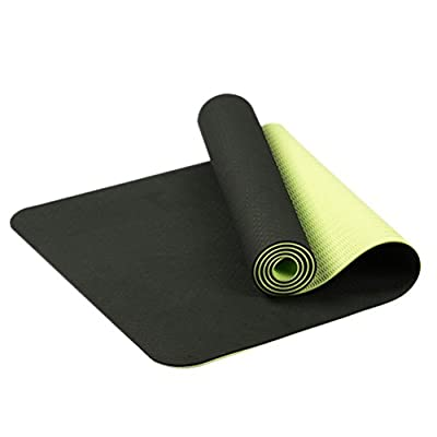 QYSM Non Slip Yoga Mat by Farland-Eco Friendly TPE Workout Exercise Mat,Anti-tear Hot Pilates Pad Mats in Home & Gym-6mm Thick