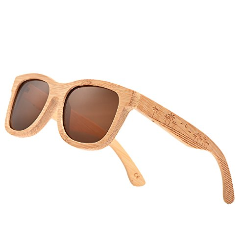 79947d6d74 VOBOOM® Bamboo Wood Polarized Sunglasses For Men   Women -Temple Carved  Collection - Buy Online in UAE.