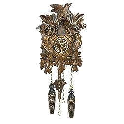 Trenkle Uhren Quartz Cuckoo Clock 5 leaves, 3 birds, with music TU 372 QM