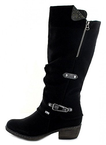 femme Rieker bottines bottes amp; 00 Schwarz 93752 TZTCg
