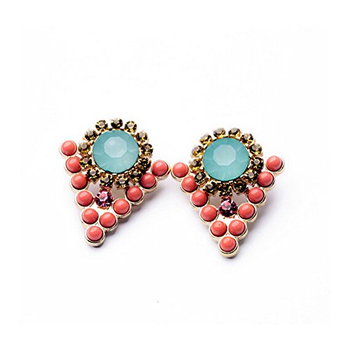Elakaka Women's New Retro Personality Gem Diamond Earrings (Hollywood Costumes For Sale Australia)