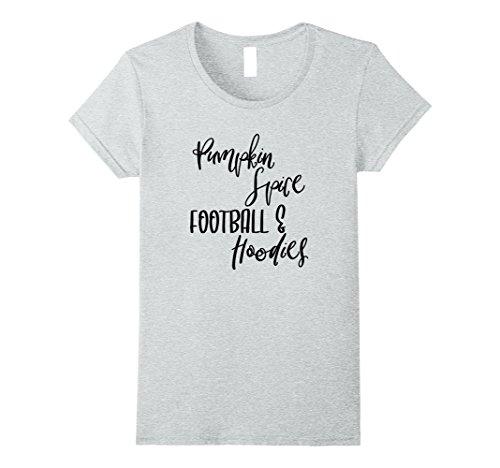 Womens Pumpkin Spice, Football & Hoodies T-Shirt Small Heather